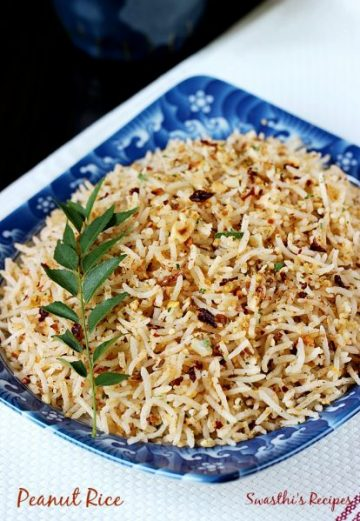 Peanut rice recipe | South Indian style peanut rice