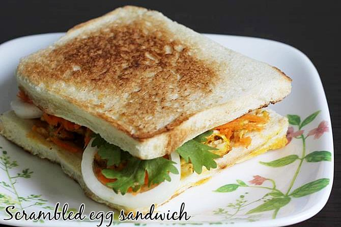 scrambled egg sandwiches recipe