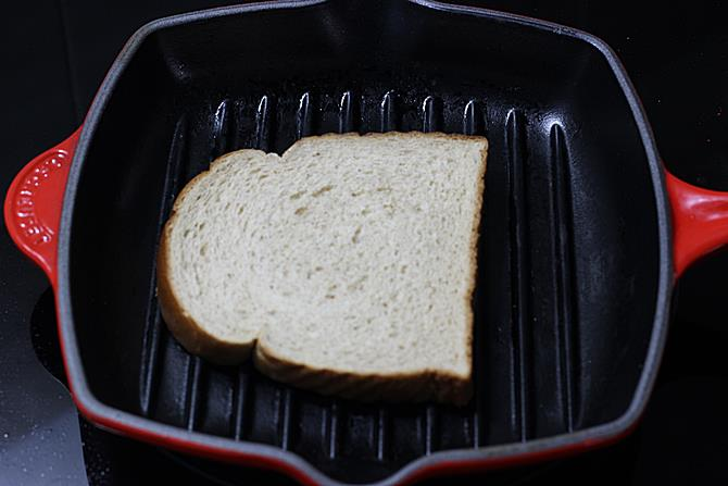 Butter the bread and toast it