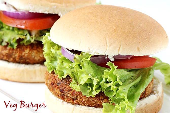 veg burger sandwich