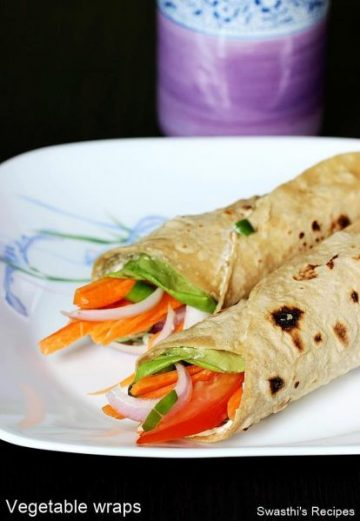 Veg Wraps Recipe | How to make Vegetable Wraps | Roti wraps