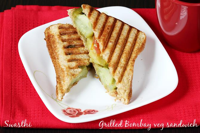 Bombay grilled veg sandwich recipe