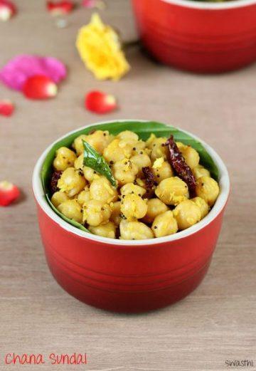 Chana sundal recipe for Naivedyam | Chana Guggillu