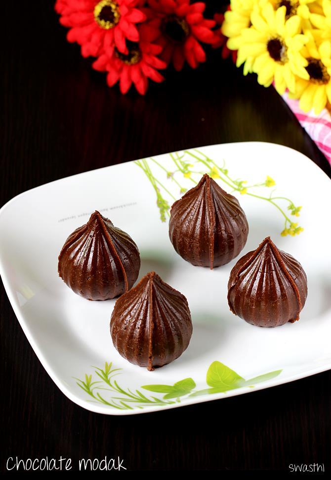 chocolate mawa modak recipe