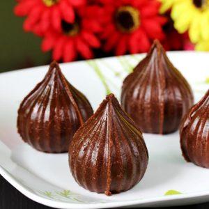 Chocolate modak recipe | How to make chocolate modak