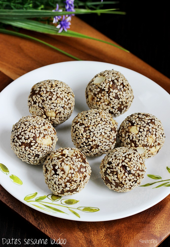 Dates Sesame Ladoo Recipe How To Make Dates Sesame Laddu