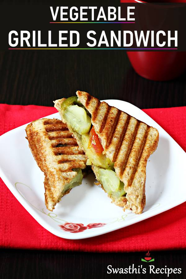Veg grilled sandwich recipe | How to make grilled sandwich