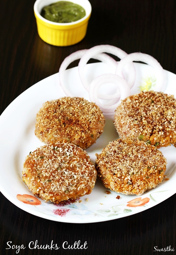 soya granules cutlet recipe