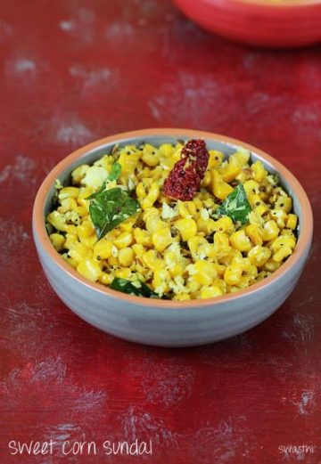 Sweet corn sundal | Easy sweet corn recipes for kids