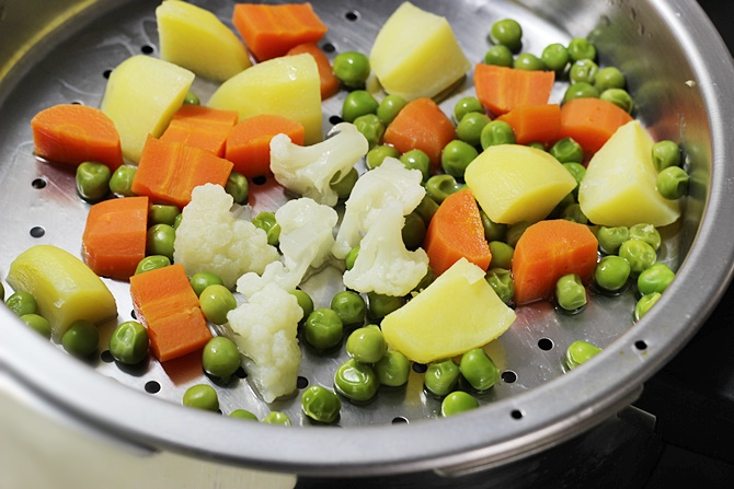 Steam or boil veggies