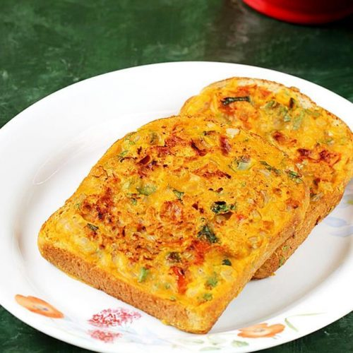 Besan bread toast recipe on tawa under 15 minutes