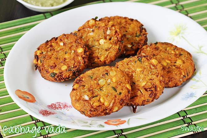 Cabbage Vada Recipe How To Make Cabbage Vada Cabbage Dal Vada