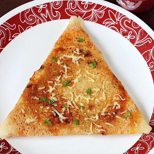 Cheese dosa recipe | How to make crispy cheese dosa