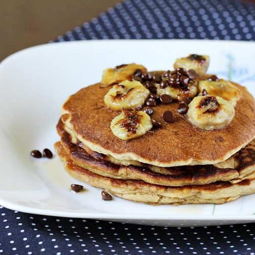 Eggless Banana Pancakes Recipe How To Make Eggless Banana Pancake