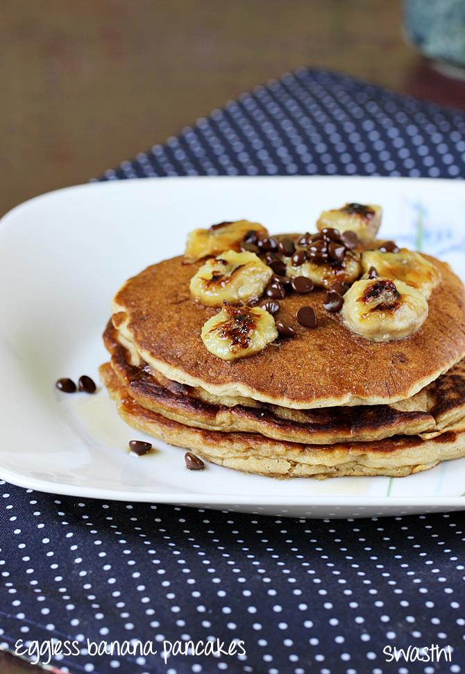 Eggless banana pancakes recipe how to make eggless banana pancake eggless banana pancakes recipe ccuart