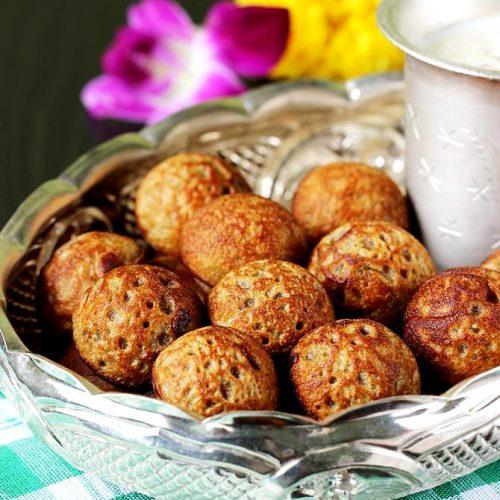 Instant sweet paniyaram | Whole wheat flour appam