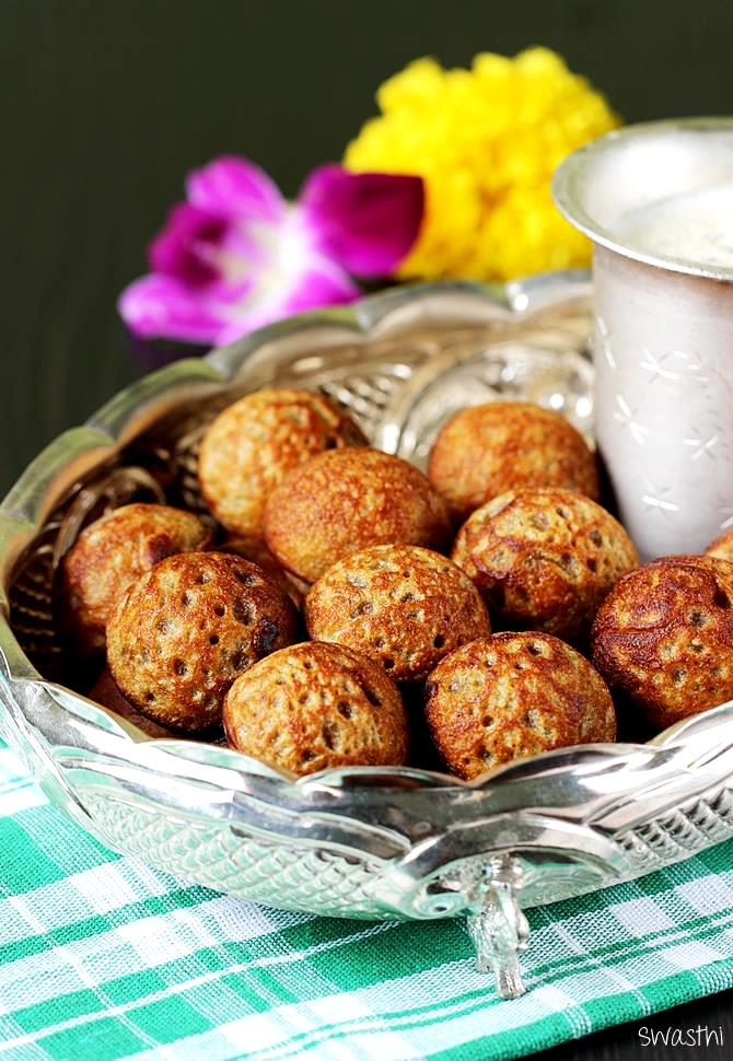instant sweet paniyaram recipe