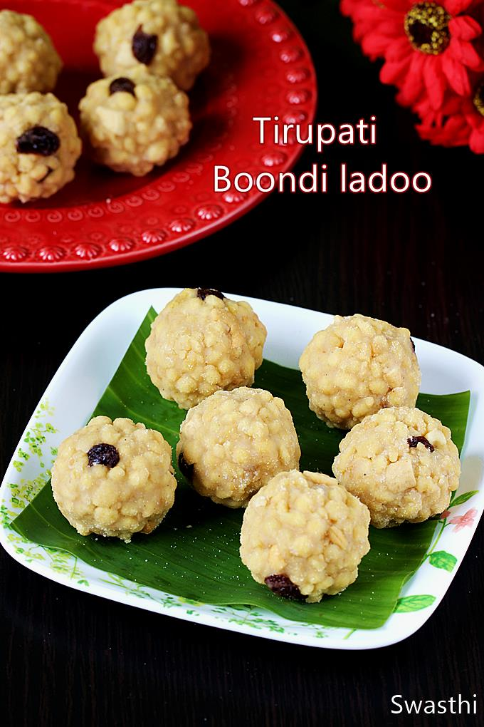 Boondi ladoo are delicious sweet balls made with gram flour, ghee, nuts and sugar. #boondiladoo #ladoo #tirupatiboondiladoo