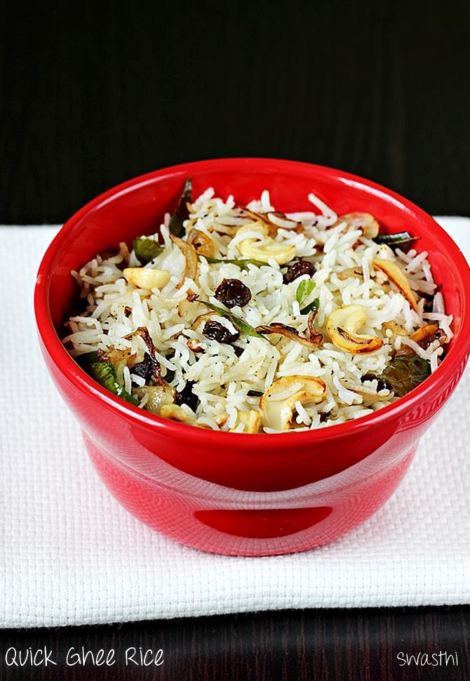 ghee fried rice recipe