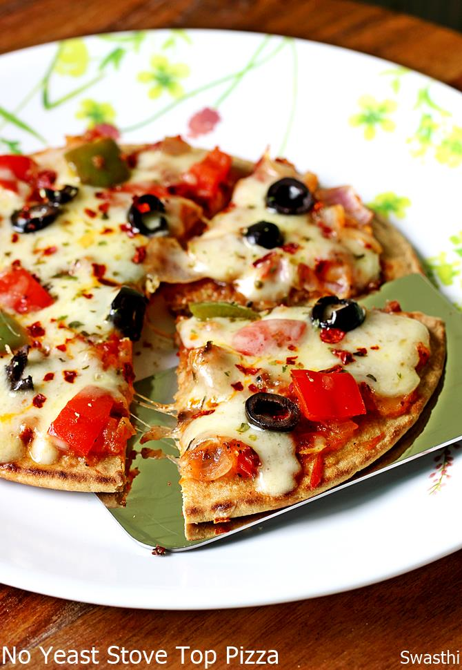 no yeast tawa pizza recipe