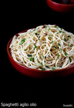 Spaghetti recipe video | Spaghetti Aglio Olio recipe | Vegetarian spaghetti