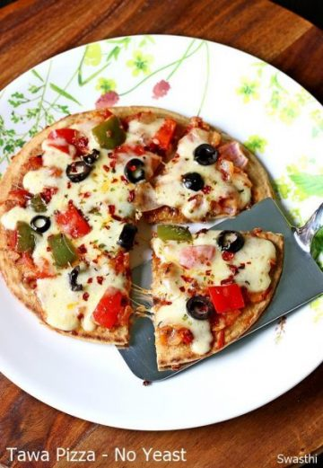 Tawa pizza recipe without yeast video   No yeast stove top pizza recipe