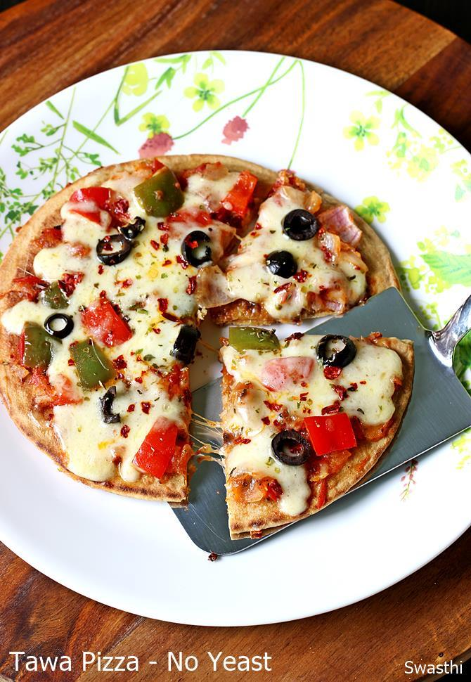 tawa pizza recipe without yeast how to make pizza without oven