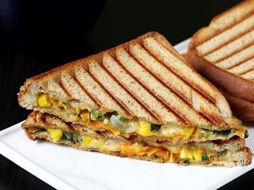 Veg cheese sandwich recipe | Vegetable cheese sandwich