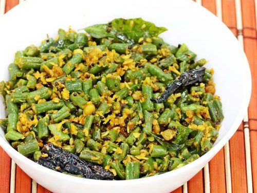 Beans poriyal recipe | South Indian french beans fry