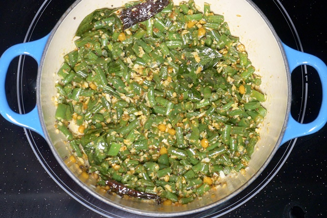frying beans poriyal