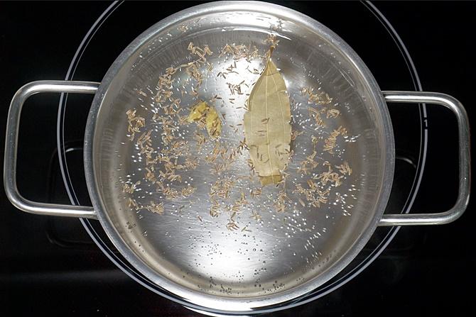 cooking rice for egg roast biryani