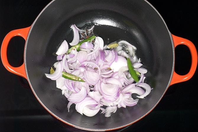 Add sliced onions
