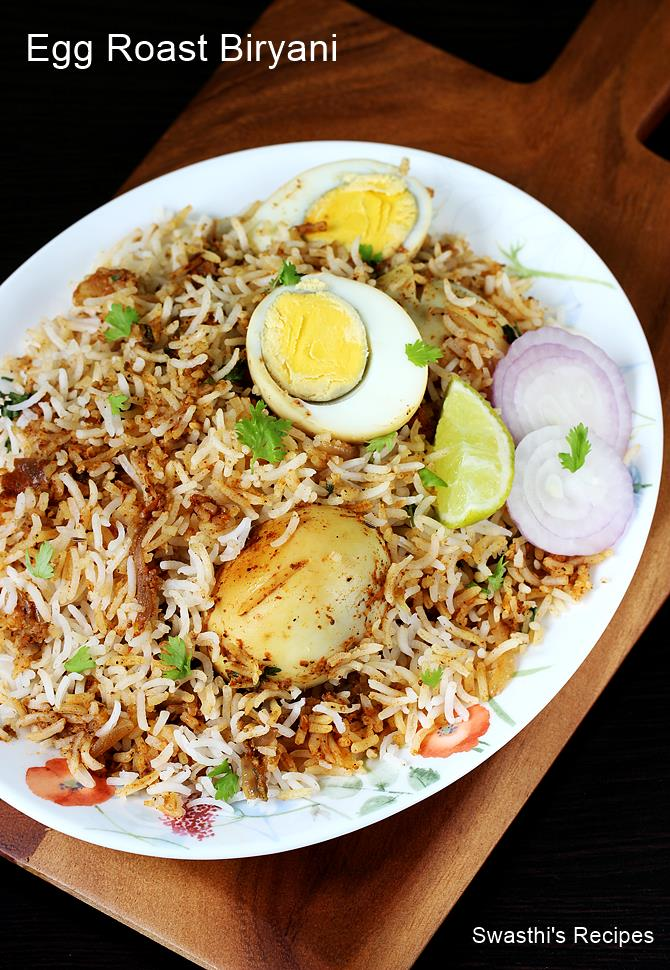 egg roast biryani recipe