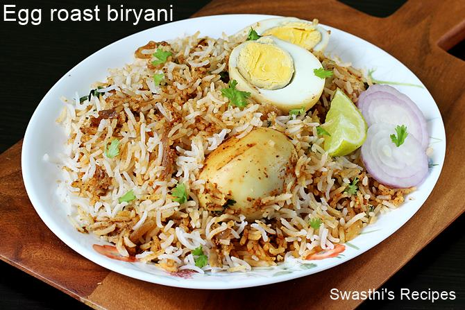 egg roast biryani