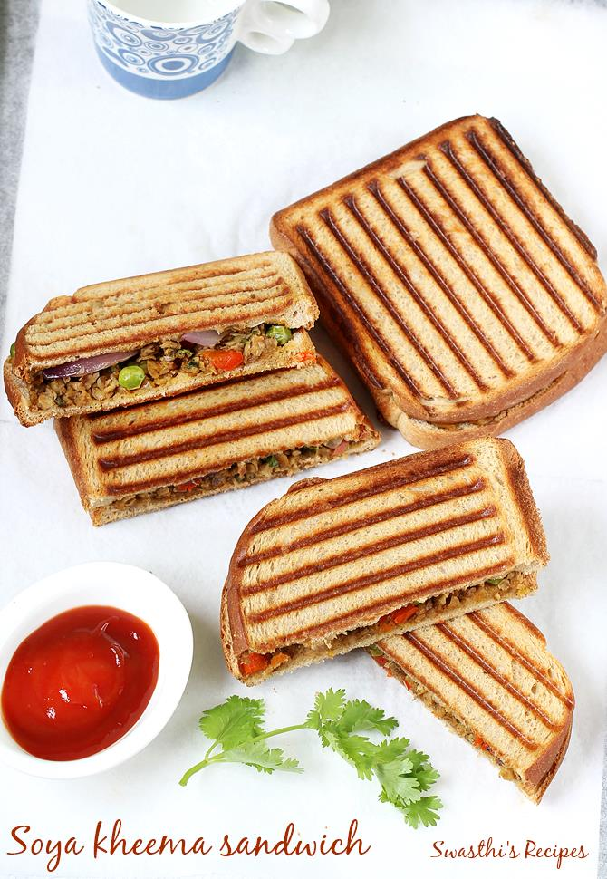soya chunks sandwich recipe