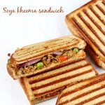 Soya keema sandwich recipe video | Soya chunks masala sandwich recipe