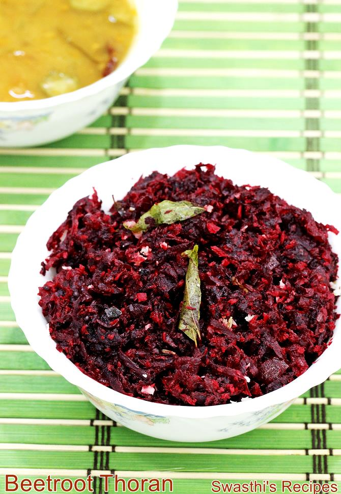 Beetroot thoran recipe with video kerala style beetroot stir fry beetroot thoran recipe forumfinder Images
