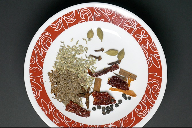 Clean the spices and add them to a blender jar