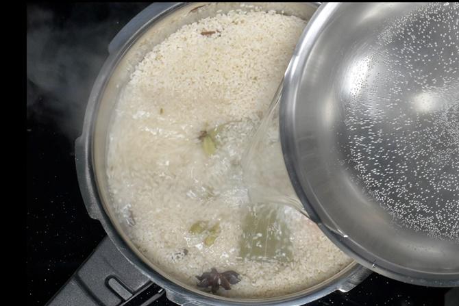 Add hot water