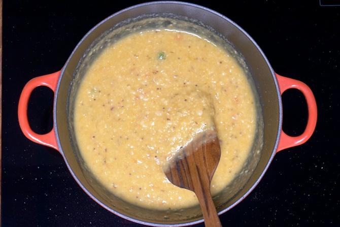 simmering dal
