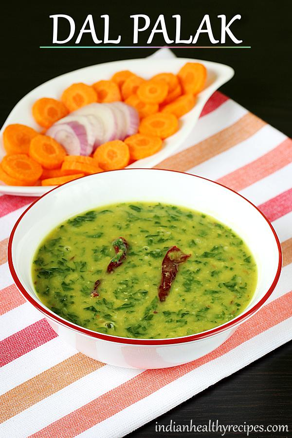 dal palak is Indian spinach dal. Dal palak is simple, delicious & healthy. Serve with rice or roti. #dalpalak #dalpalakrecipe #spinachdal #dal #palak