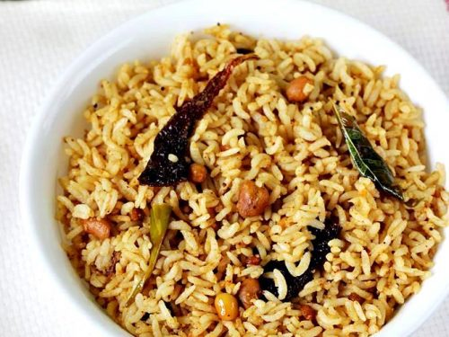 Puliyogare recipe | Tamarind rice recipe in Karnataka style