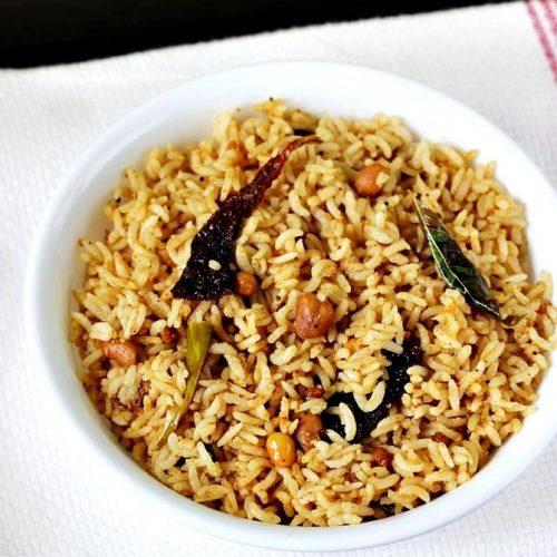 Puliyogare recipe | Tamarind rice recipe in Karnataka style
