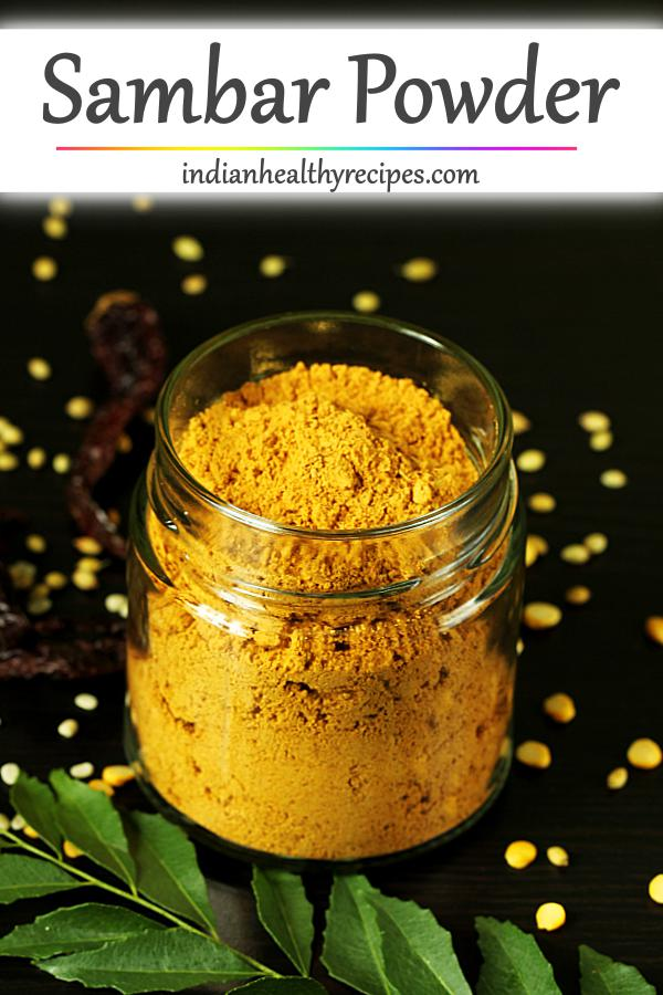 Sambar powder is an aromatic spice powder used in Indian cooking. It is a blend of spices, lentils & herbs. #sambarpowder #sambarmasala #sambarpowderrecipe