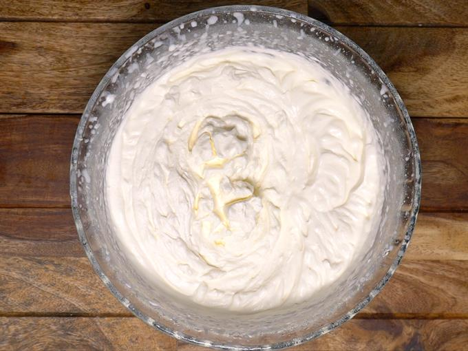 whipped cream for chocolate ice cream