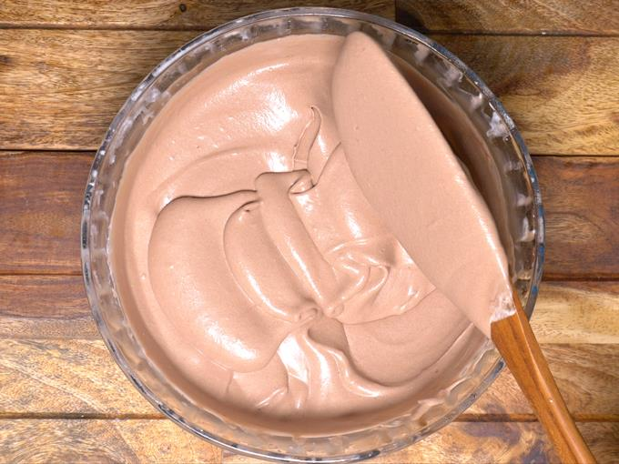 prepared chocolate ice cream mixture