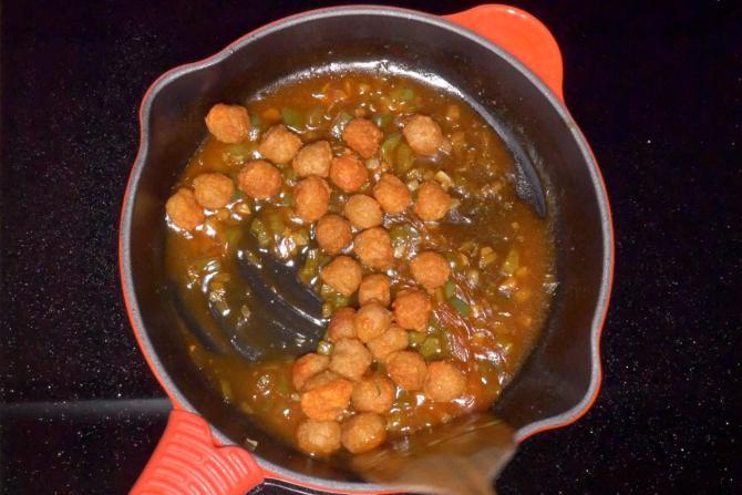 Soya Chunks Manchurian Recipe Video How To Make Soya Manchurian