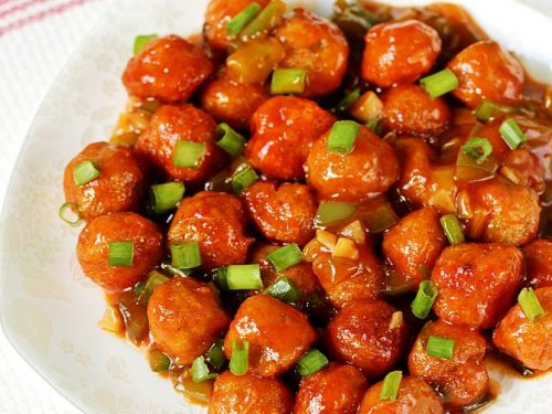 Soya chunks manchurian recipe