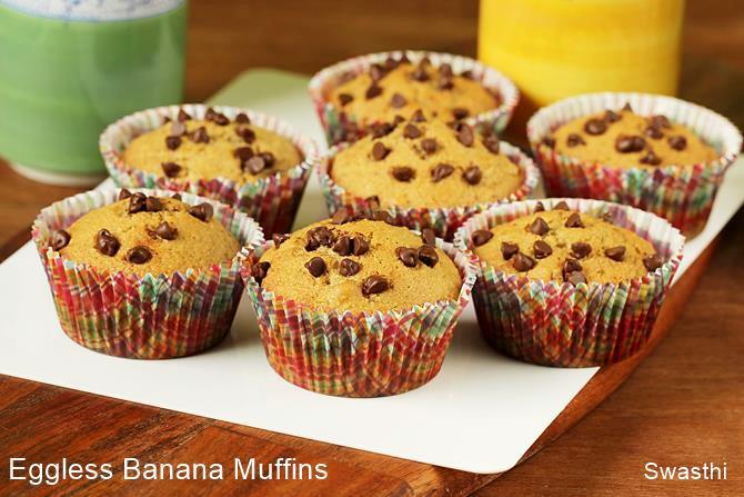 how to make eggless banana muffins