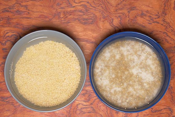 Wash urad dal and soak